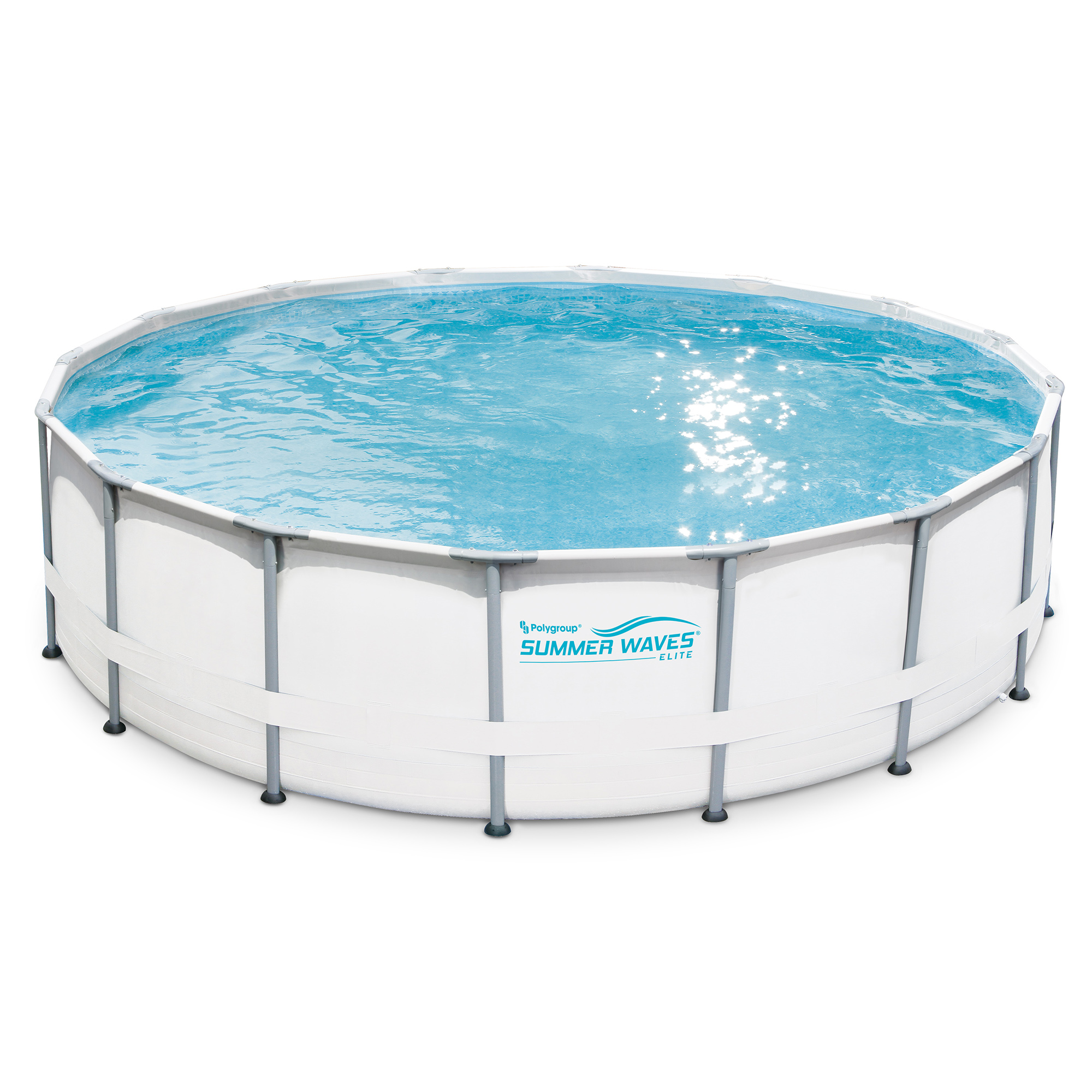 "Summer Waves Elite 16'x48"" Premium Frame Above Ground Swimming Pool"