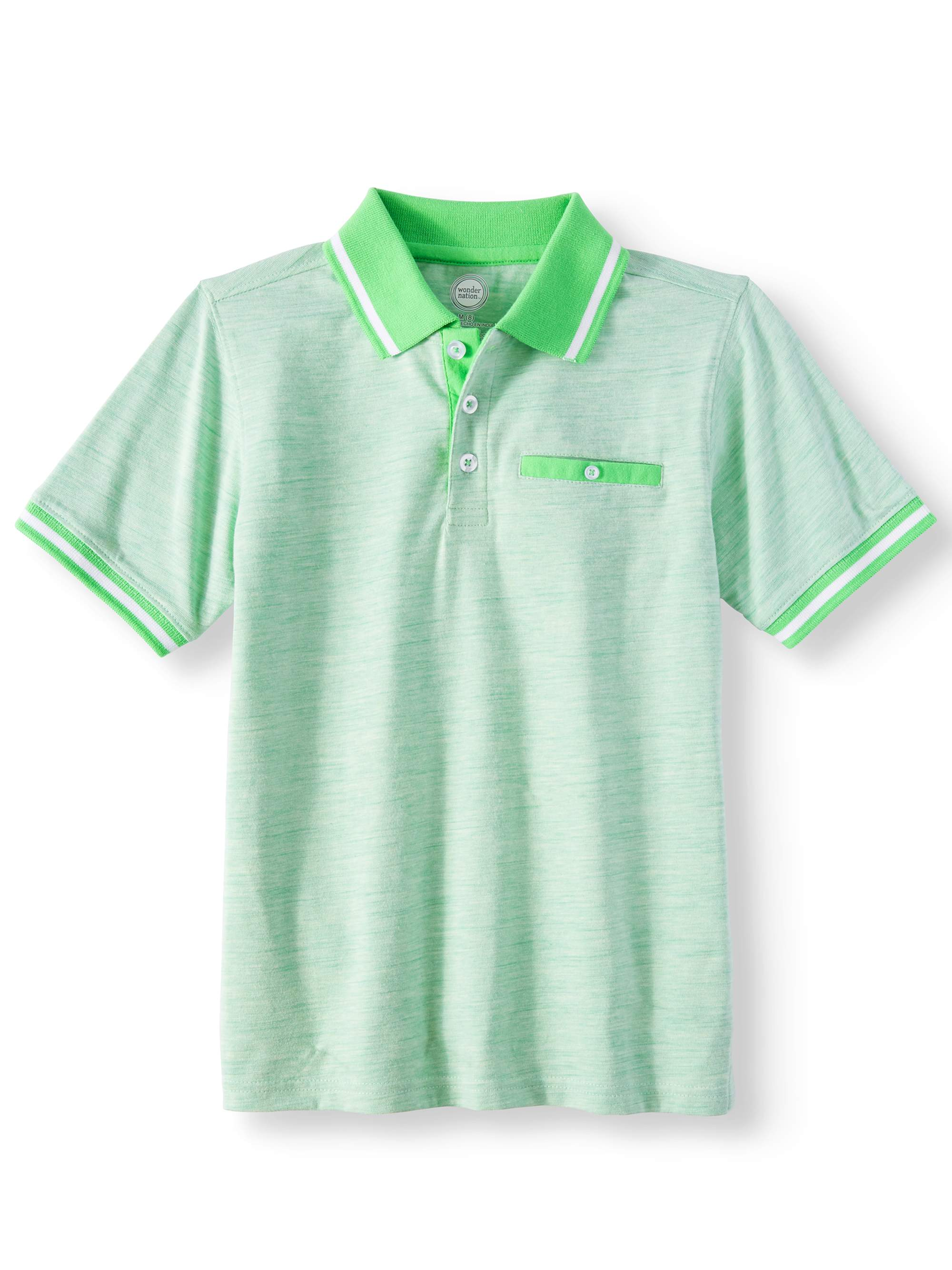 Wonder Nation Short Sleeve Stretch Jersey Polo (Little Boys & Big Boys)