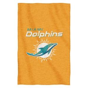 "Miami Dolphins 54""x84""Sweatshirt Blanket - Script Design"
