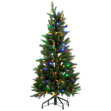 4 Foot Christmas Tree.Retro 50 S Style Pre Lit Mutli Colored C6 Bulb 4 Foot Christmas Tree