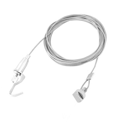 Art Exhibition Metal 2 Hooks Photo Painting Hanging Rope Cord Cable 1.5M -