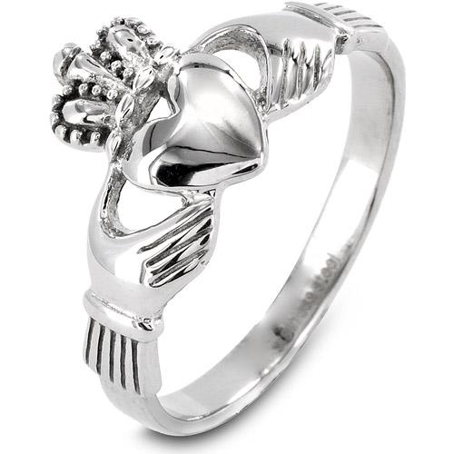 ELYA Stainless Steel Irish Claddagh Ring