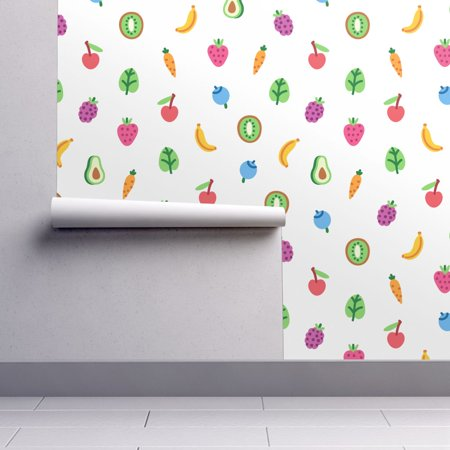 Kiwi Pear - Removable Water-Activated Wallpaper Vegetables Vegetables Fruits Avocado Kiwi