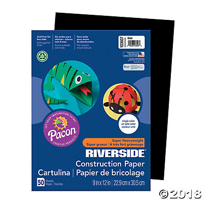 Pacon® Riverside® Construction Paper - Black(pack of 2)