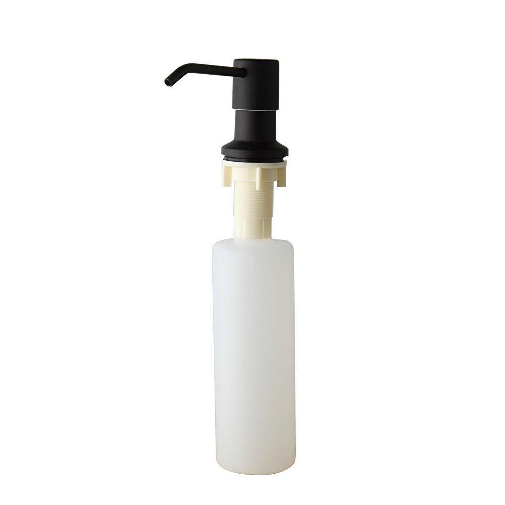 ... Weixintech Sink Soap Dispenser Black Kitchen Sink Countertop Soap  Dispenser Built In Hand Soap Dispenser Abs