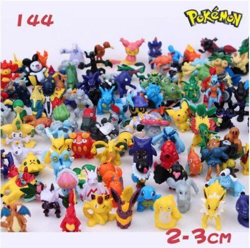 144 Pcs 2-3cm Cartoon Pokemon Monster Mini Figure Anime Pokeball Anction Figure Child Toys in Random ZX-101-231