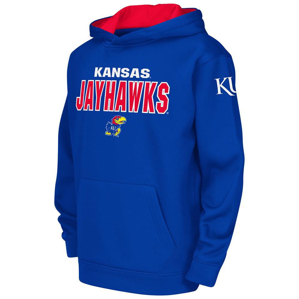 Kids NCAA Kansas Jayhawks Poly Pull-over Hoodie