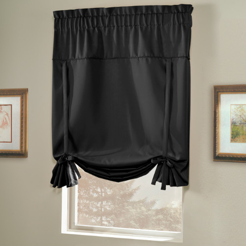 United Curtain Blackstone Blackout Tie-Up Shade