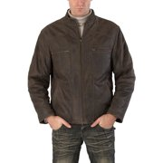 BGSD Men's Ethan Distressed Brown Leather Motorcycle Jacket
