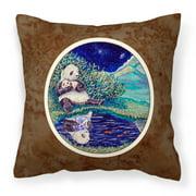 Panda Bear with Baby Fabric Decorative Pillow