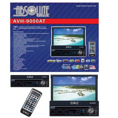 Absolute AVH-9000AT 7-Inch In-Dash Multimedia Touch Screen System with Bluetooth, Analog TV Tuner and USB/SD