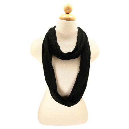 - Elegant Solid Color Infinity Loop Jersey Scarf