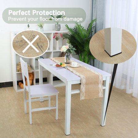 "Furniture Felt Pad Square 1"" Anti-scratch for Furniture Cabinet Black 100pcs - image 3 de 7"