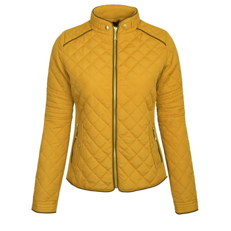 0308073f904 KOGMO - KOGMO Womens Quilted Jacket Fully Lined Lightweight Zip Up Jacket S-3X  Plus - Walmart.com