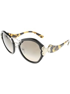 5ab6e48f1d237 Product Image Prada Women s Gradient Wanderer PR09TS-1AB3D0-54 Black  Butterfly Sunglasses