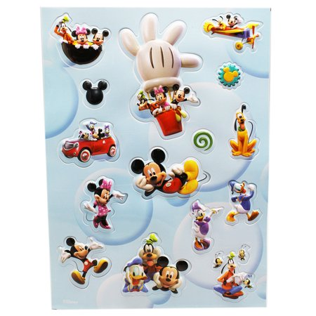 Fan Club Sticker - Disney's Mickey Mouse Clubhouse 3D Raised Design Stickers (15 Stickers)