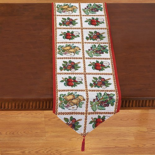 Collections Etc Fruit Assortment Tapestry Table Linens by Collections Etc