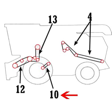H152180 New Slow Speed Fan Drive Belt For John Deere