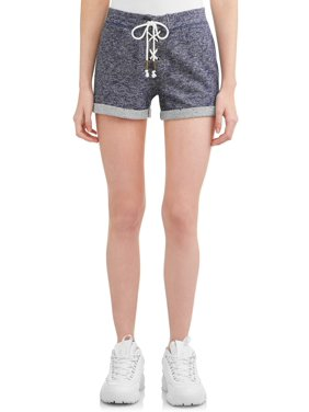 d858aaa253 Product Image Juniors' Soft Knit Lace-Up Front Shorts