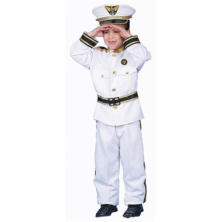 Dress Up America 229-T2 Deluxe Navy Admiral Costume Set - Toddler T2 (Old Navy Toddler Costumes)