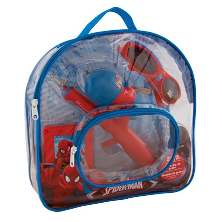 Single Pole Rolling Backpack - Shakespeare Youth Fishing Kits Spiderman, Backpack