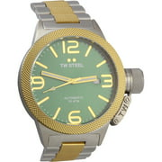 CB65 Men's Canteen Bracelet Green Dial Two Tone Steel Automatic Watch