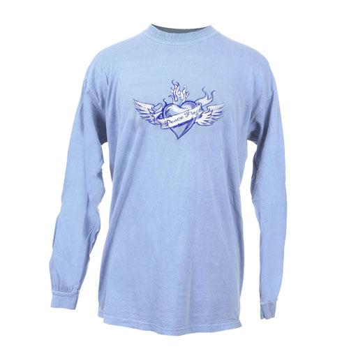 Peace Frogs Adult Winged Heart Long Sleeve T-Shirt