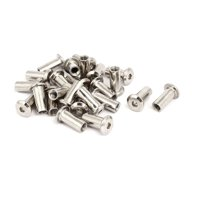 M6x18mm Female Thread Hex Socket Head  Nut Furniture Fittings 24pcs