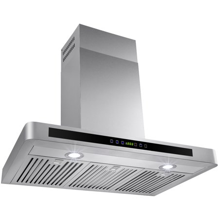 "AKDY 36"" Stylish Stainless Steel Wall Mount Range Hood Stove Kitchen Vent Touch Control Panel"