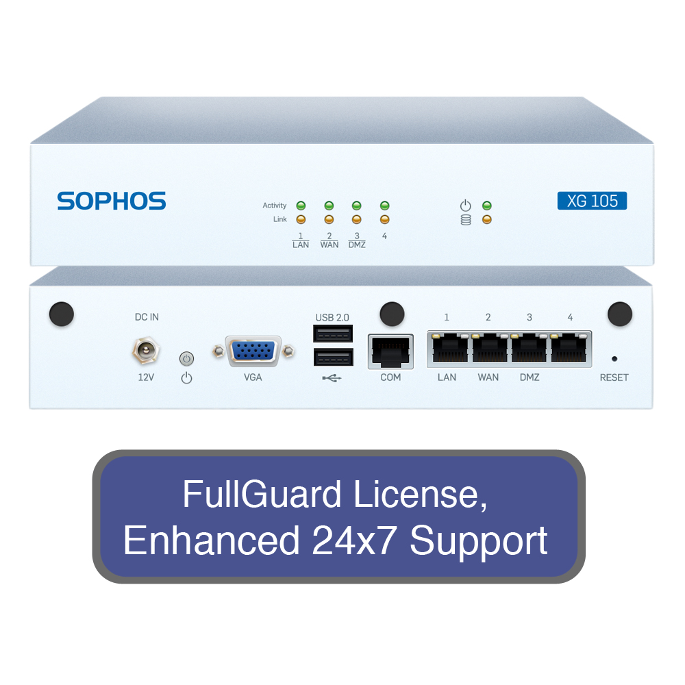 SOPHOS XG 105 Next-Gen Firewall TotalProtect Bundle with ...