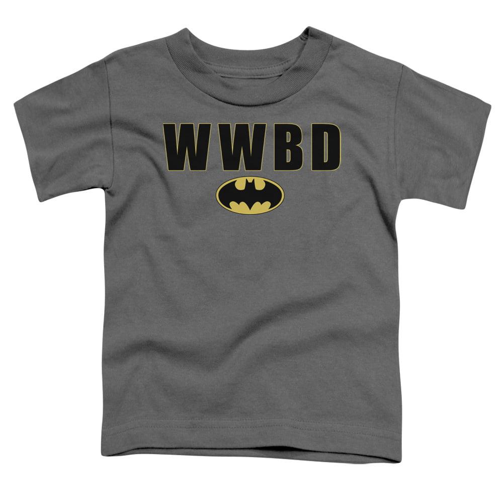 Batman/Wwbd Logo   S/S Toddler Tee   Charcoal      Bm1492