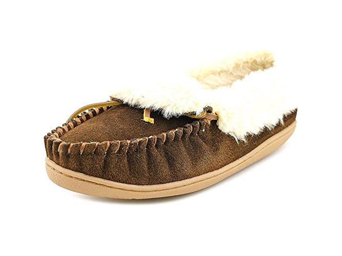 Minnetonka Womens Leather Round Toe Casual Slide Sandals by Minnetonka