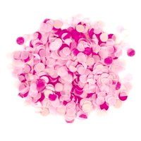 Koyal Wholesale Tissue Paper Confetti 1-Inch Circles, Pink, Rose Pink, Blush Pink In Bulk 5.3oz Pack, Ombre Pink