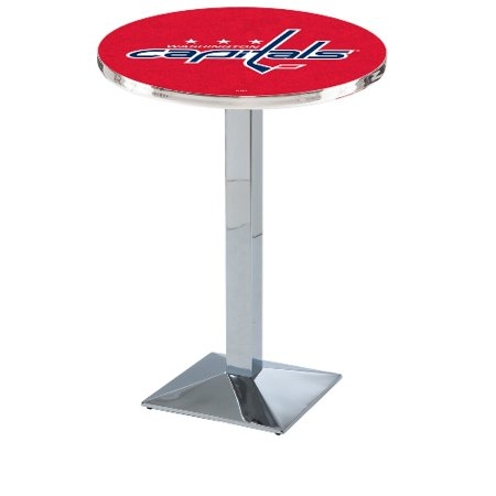 NHL Pub Table by Holland Bar Stool, Chrome Washington Capitals, 42'' L217 by