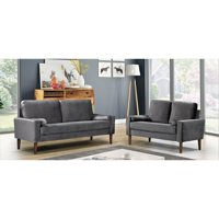 Mathais Modern Living Room Set, 2Pc