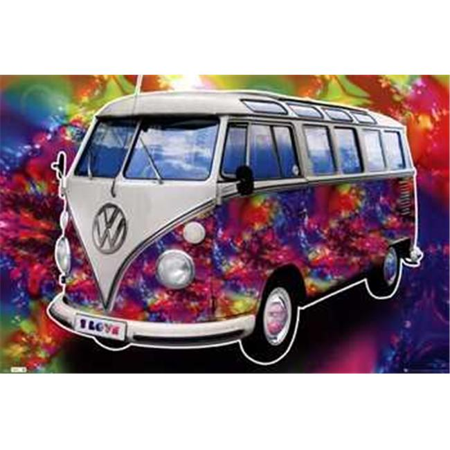 Trends International TIARP0434 VW Californian CamperLove -22 x 34- Poster Print
