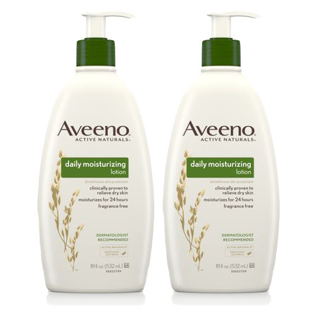 (2 Pack) Aveeno Daily Moisturizing Lotion with Oat for Dry Skin, 18 fl. oz