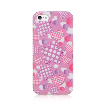 Crystal Skin Cover - Insten Crystal TPU Rubber Skin Gel Back Shell Cover Case For Apple iPhone 5 / 5S - Pink Doll