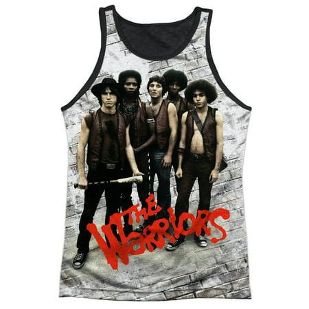 The Warriors Gang Action Movie Gang Pose Adult Black Back Tank Top Shirt - Warriors Baseball Gang