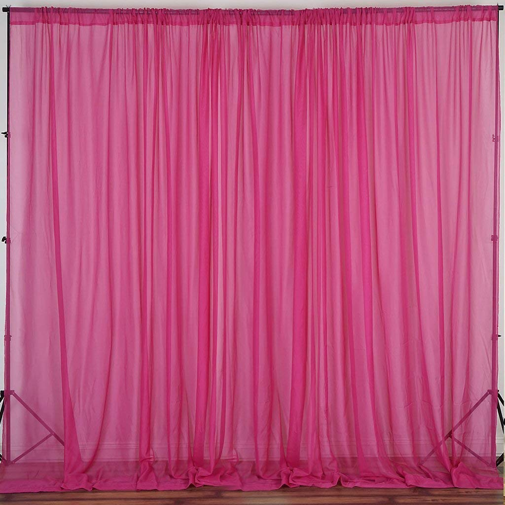 Ak Trading Co 120 Wide 10ft Wide Sheer Voile Drape Panels For Backdrop Wedding Events Ceiling Drapes Event Masking Decor Select From 6ft To 50ft Length 10 Feet X 35 Feet