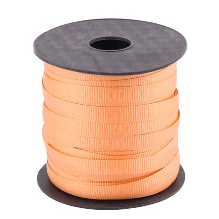 Unique Bargains Home Polyester Gift Packing String Balloon Tied Rope Ribbon Roll Orange 75 Yards (Baloon String)