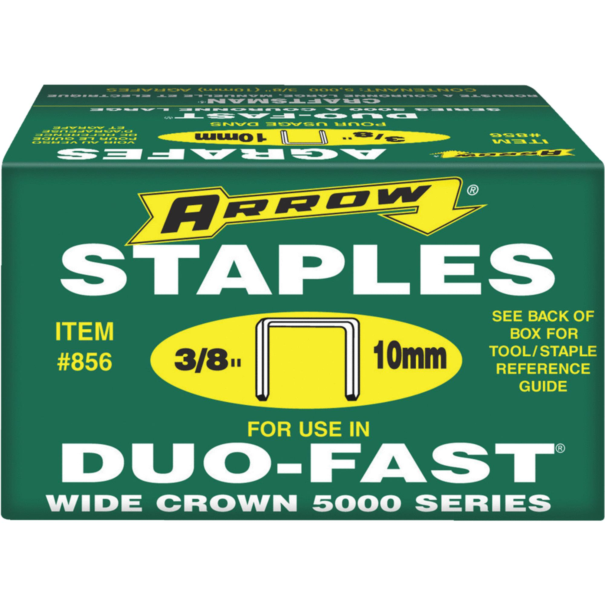 "Arrow Fastener 3/8"" Duo Fast Wide Crown 5000 Series Staples"