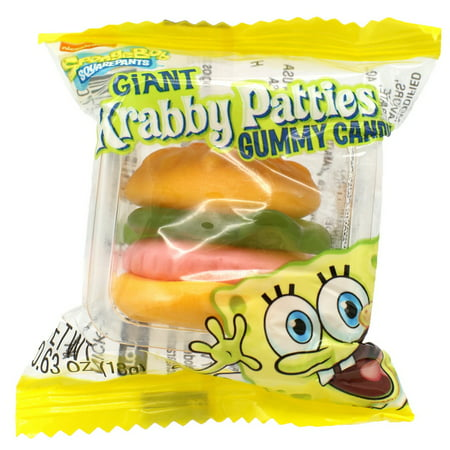 Gummy Krabby Patty ((Price/Case)Frankford Candy 10370 Giant Krabby Patty Original 6-36-.63)