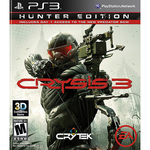 Crysis 3 Hunter Edition (PS3) w/ Day 1 Access to New Predator Bow 014633198096