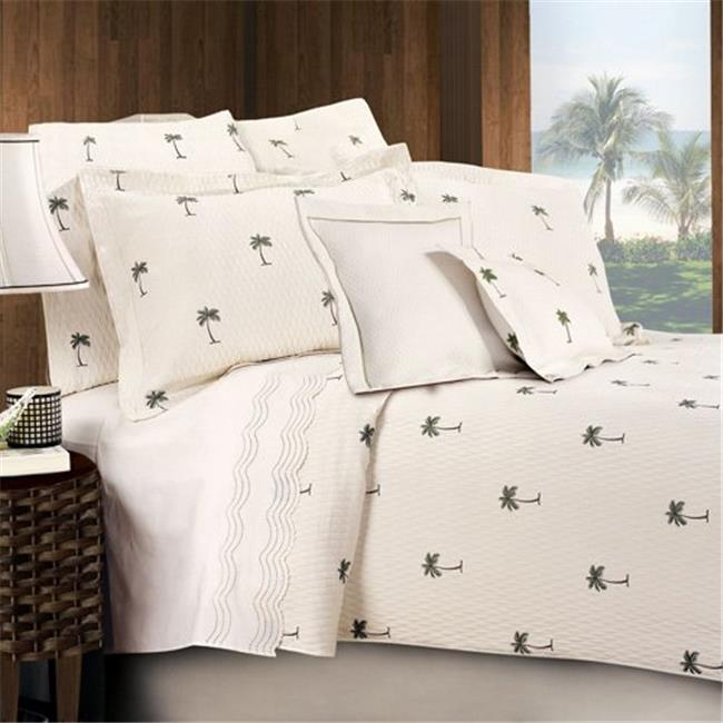 Lamont Home LBCV26350 The Palm Full/Queen Coverlet