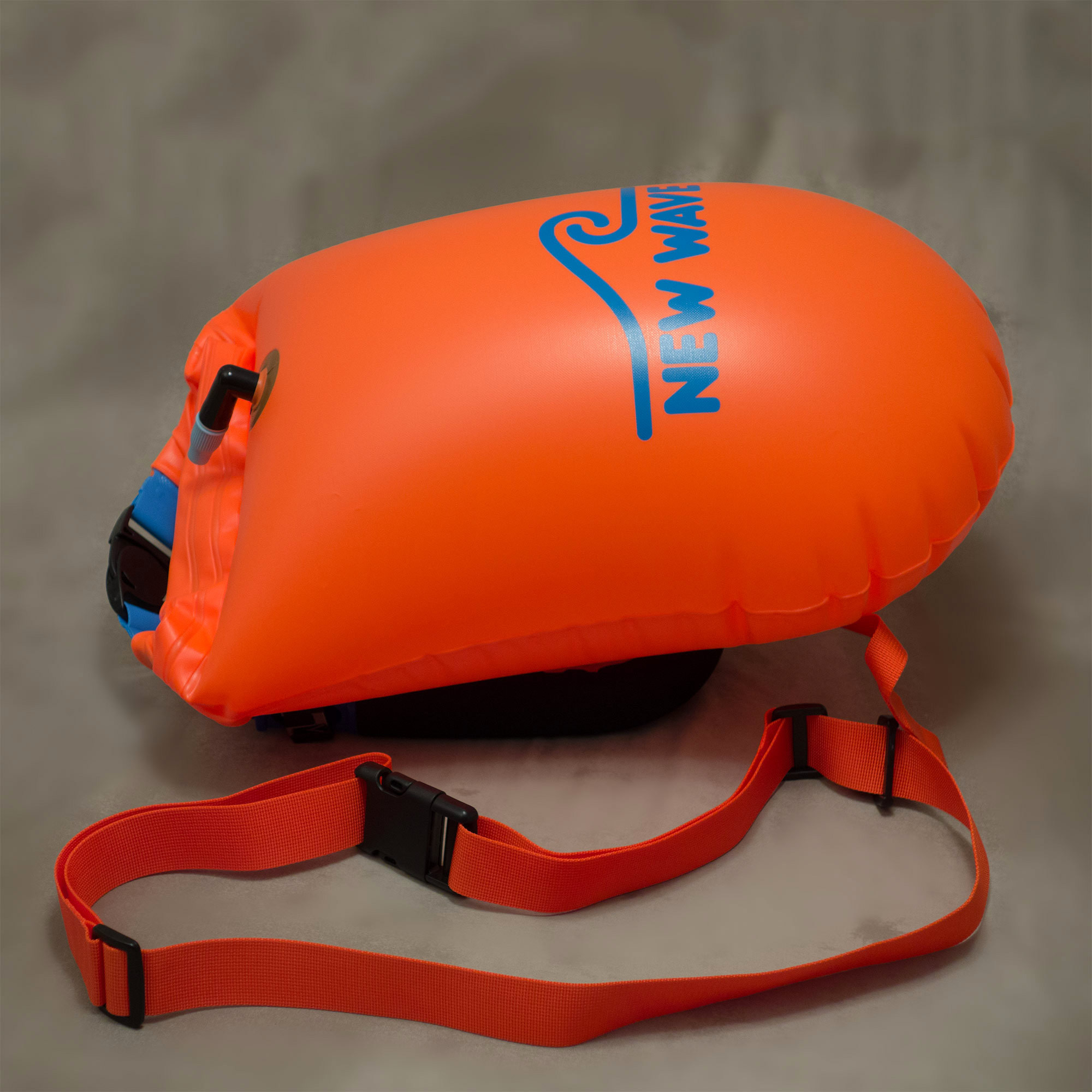 New Wave Open Water Swim Buoy Large (20 liter) PVC Orange by