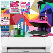 Silhouette White Cameo 4 Heat Press T-Shirt Bundle with Pink Heat Press, Siser HTV