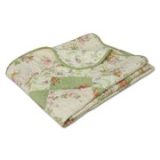 Global Trends Bloomfield 100% Cotton Patchwork Throw Blanket