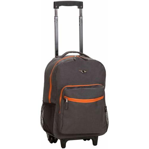 Rockland 17u0022 Roadster Rolling Backpack - Charcoal
