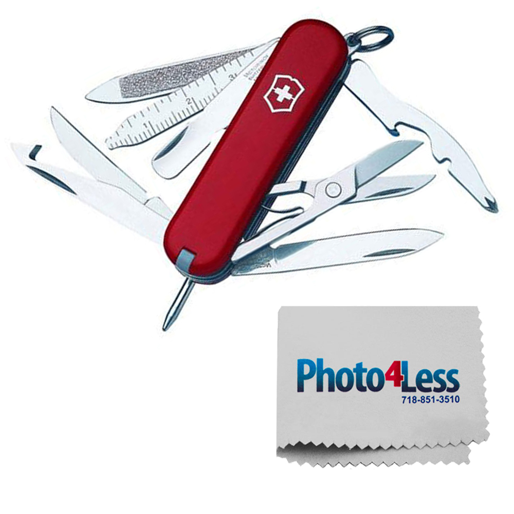 Victorinox Swiss Army MiniChamp Pocket Knife, Red